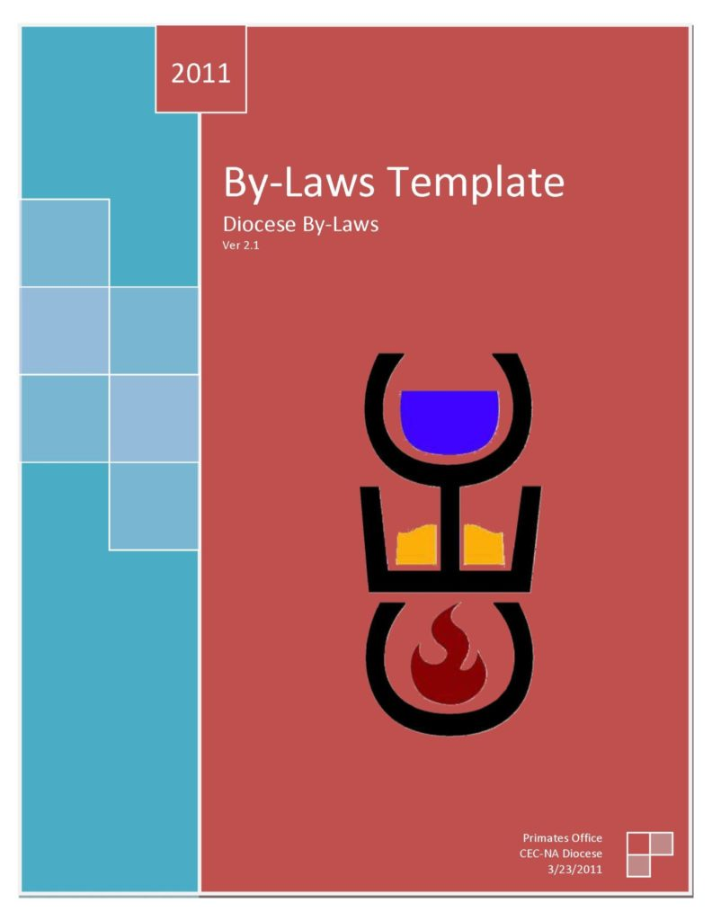 Diocese bylaws 2.1 cover